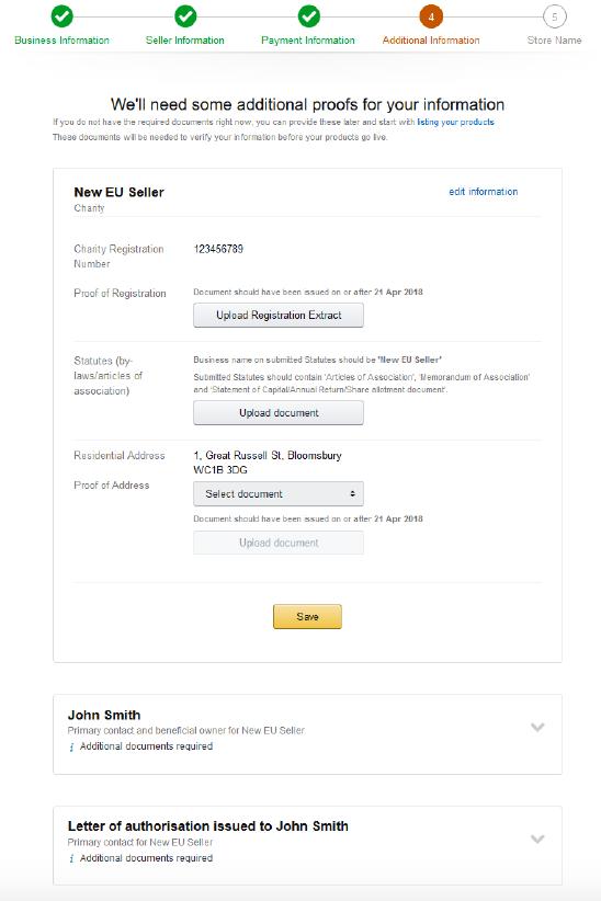 rejestracja konta sprzedawcy na amazon